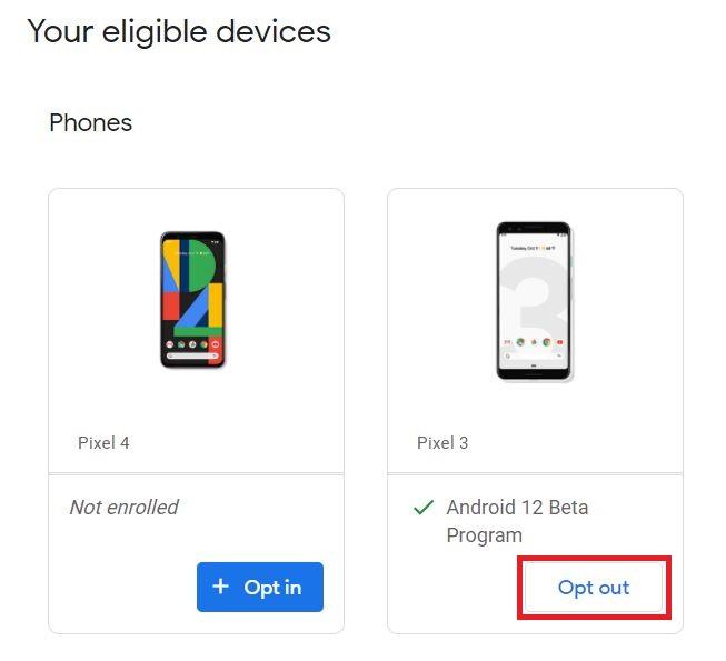 Downgrade von Android 12 auf stabilen Android 11 2-Titel