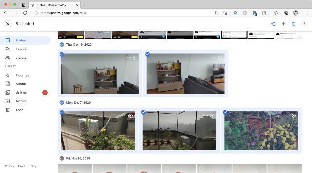 Wählen Sie Fotos in Google Fotos aus