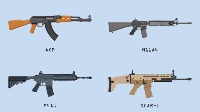 Battlegrounds Mobile India Guns Schadensliste