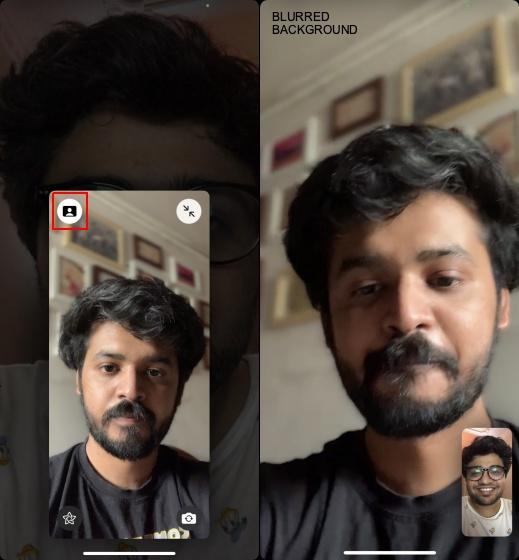 Hintergrund bei Facetime-Videoanrufen verwischen 3