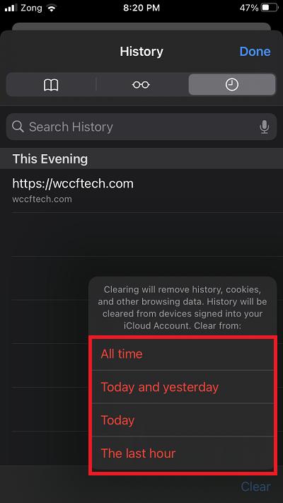 Verlauf löschen und in Safari auf iPhone und iPad surfen