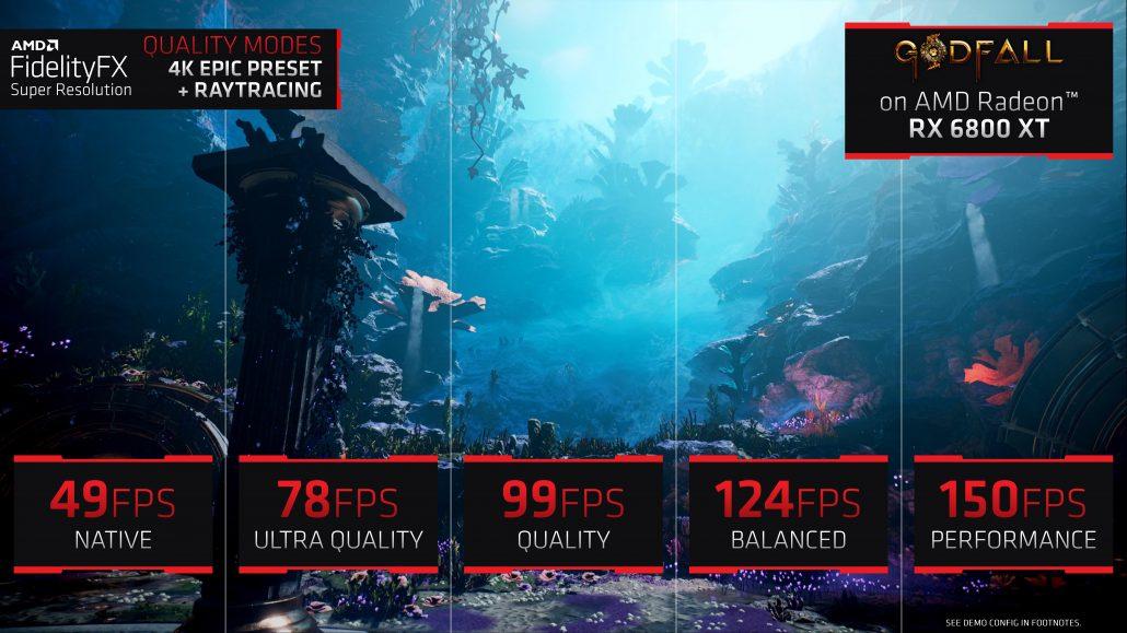 AMD DLSS-Konkurrent, FSR 'FidelityFX Super Resolution' auf Radeon RX 6800 XT 1 . vorgeführt