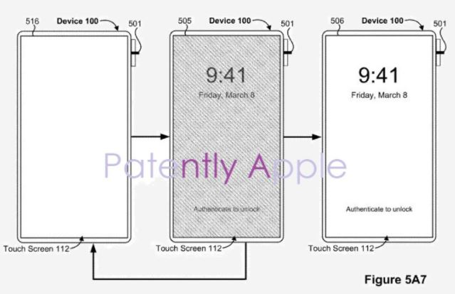 Touch ID im Titel des iPhone Power Buttons