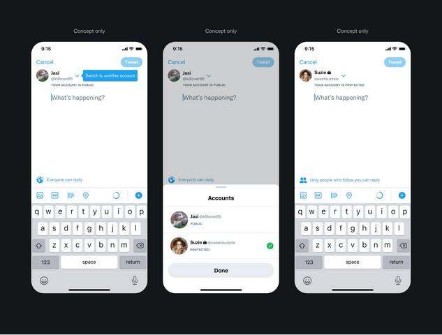 Breadcrumb-Funktion für Twitter-Accounts